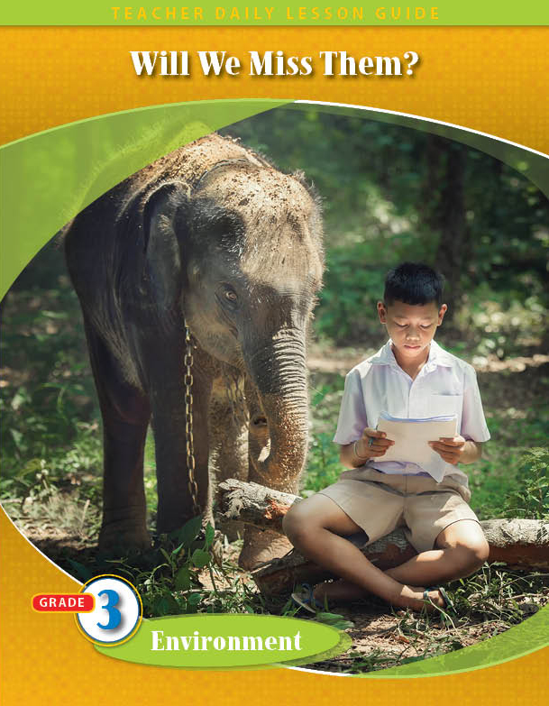 Pathways 2.0: Grade 3 Environment Unit: Will We Miss Them Daily Lesson Guide + Teacher Resource 6 Year License