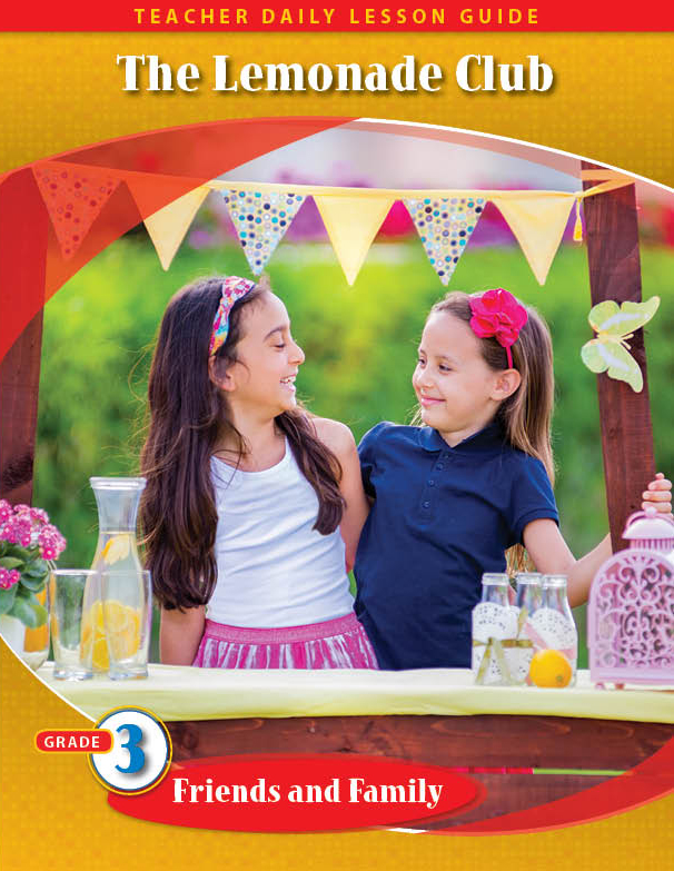 Pathways2.0 Grade 3 Friends and Family Unit: The Lemonade Club Daily Lesson Guide + 5 Year License
