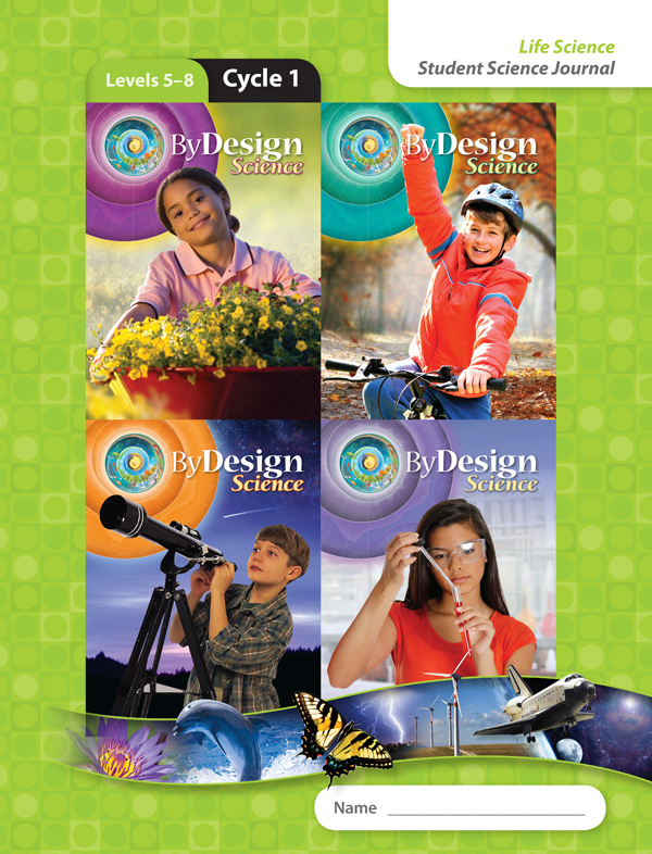 By Design Levels 5-8, Cycles 1-4 Student Science Journal 1 Year License