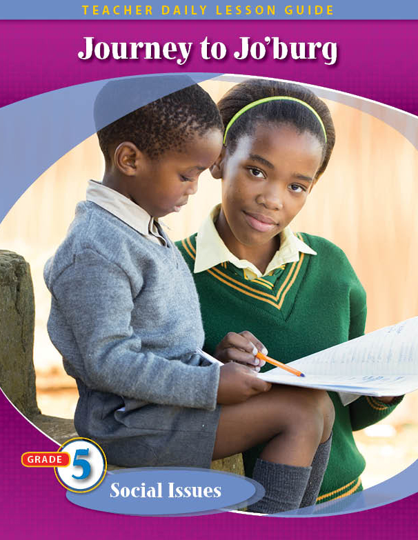 Pathways2.0 Grade 5 Social Issues Unit: Journey to Johannesburg Daily Lesson Guide + 5 Year License