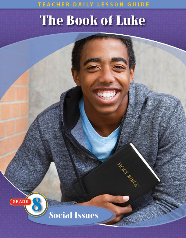 Pathways 2.0 Grade 8 Social Issues Unit: The Book of Luke Daily Lesson Guide + Teacher Resource 6 Year License