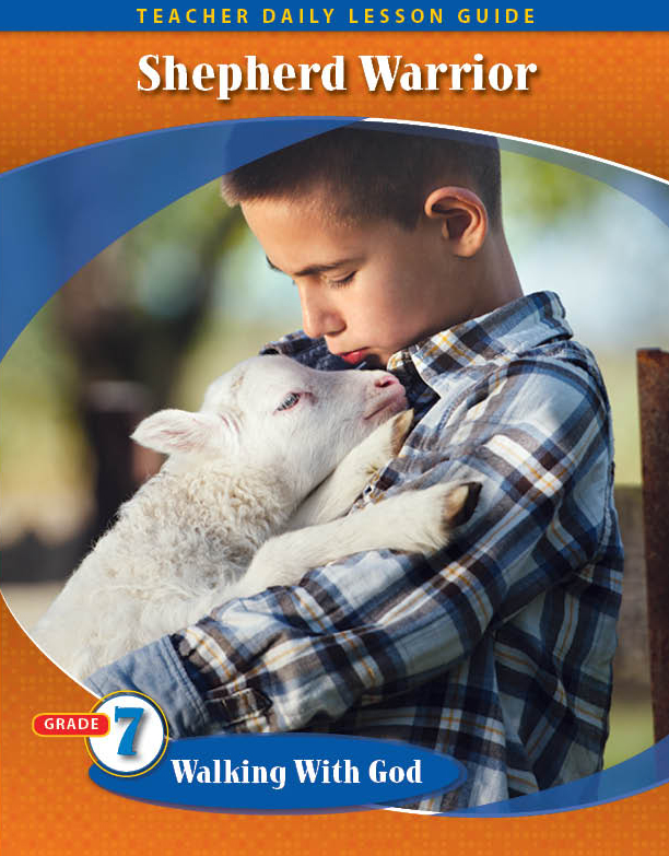 Pathways2.0 Grade 7 Walking with God Unit: Shepherd Warrior Daily Lesson Guide + 5 Year License